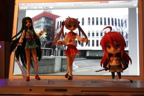 Tsuraya figma, Kagami figma and Shana nendoroid