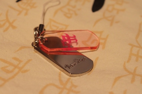 TeamAyu member gift: cute TeamAyu dog tag phone strap